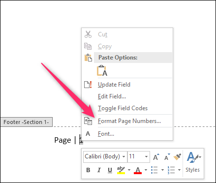 page numbers in word document are wrong