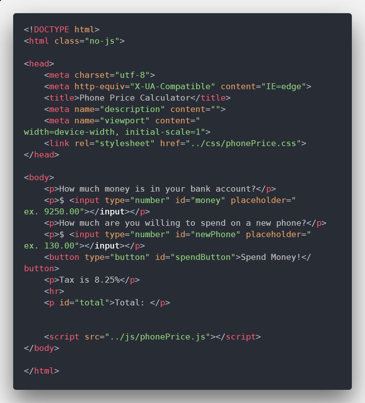 link to an external javascript document