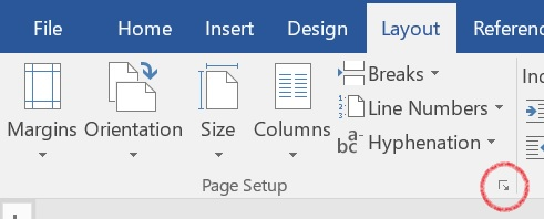 change one page of word document to landscape