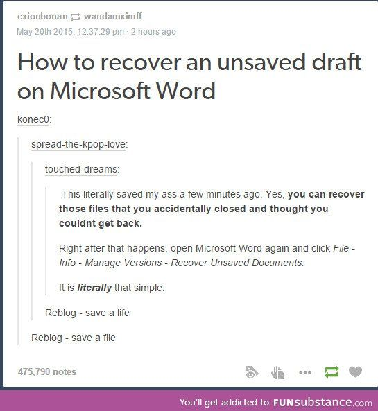 unsaved word document not there