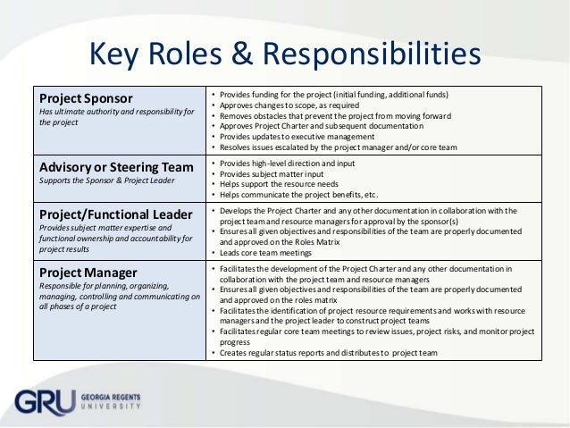 template for roles and responsibilities document