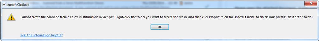 microsoft outlook error cannot create file document pdf