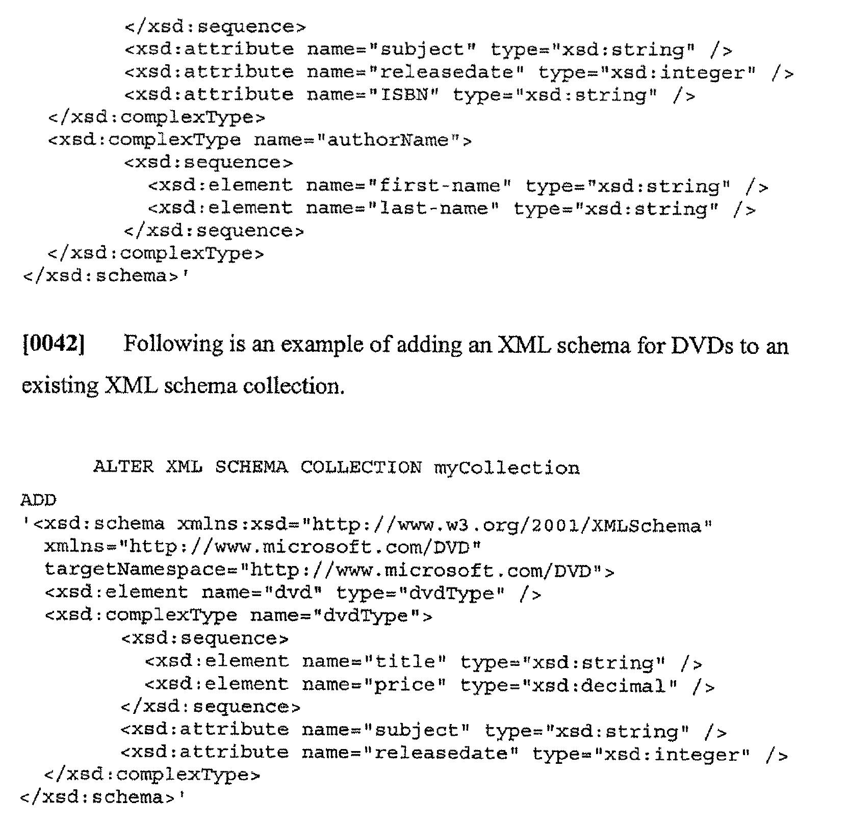 xml document example with schema