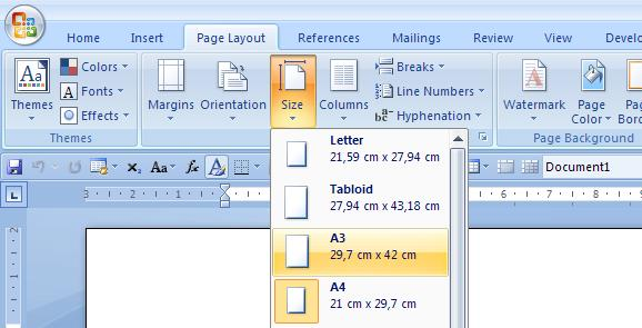 open pages document in word