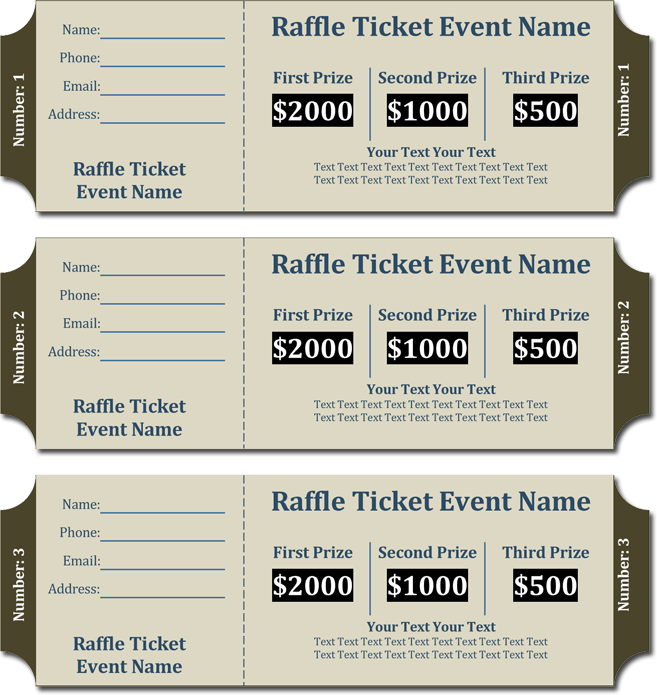 how to ticket numbers in word document