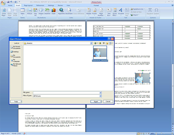 attach pdf to word document