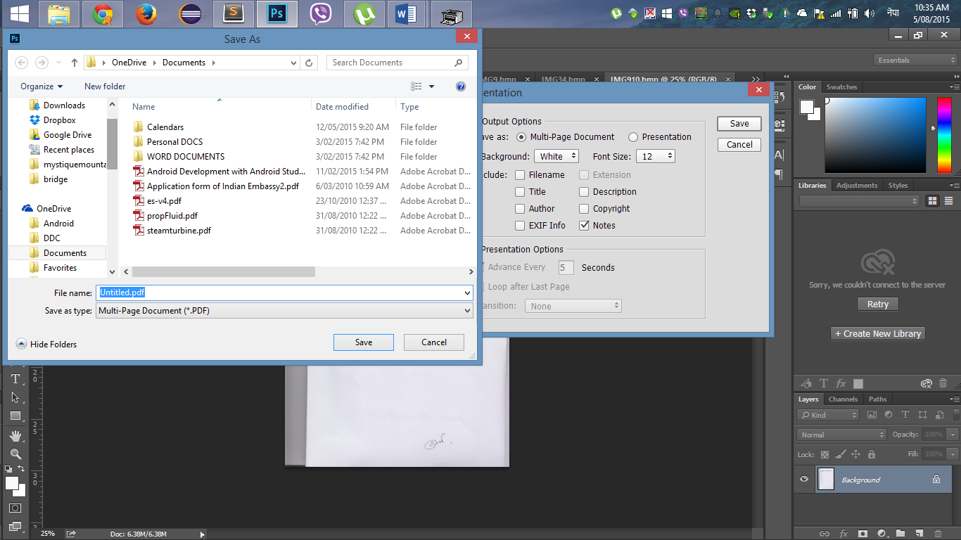 how to upload a scanned document on windows 7