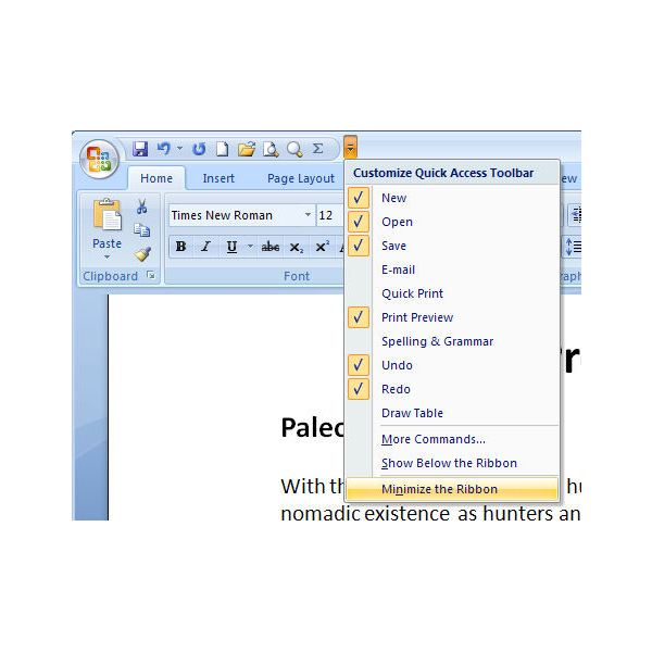 how to make a word document smaller