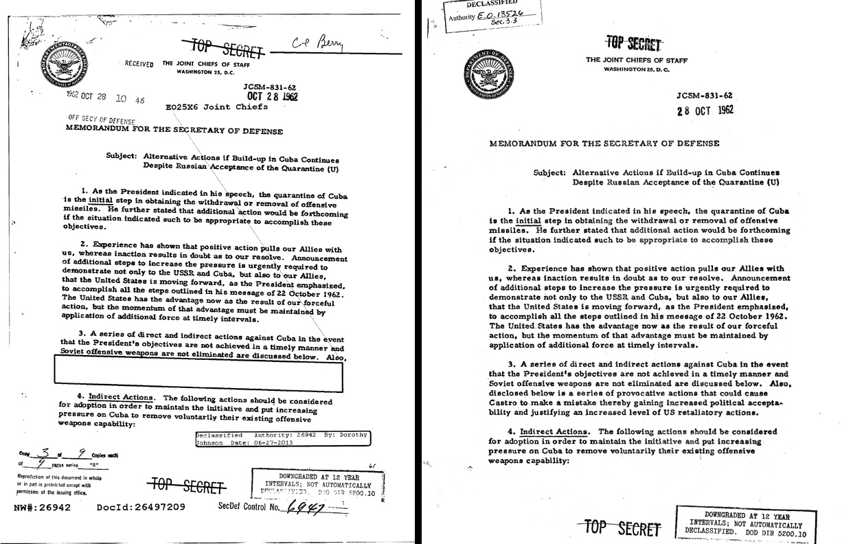 cuban missile crisis document analysis