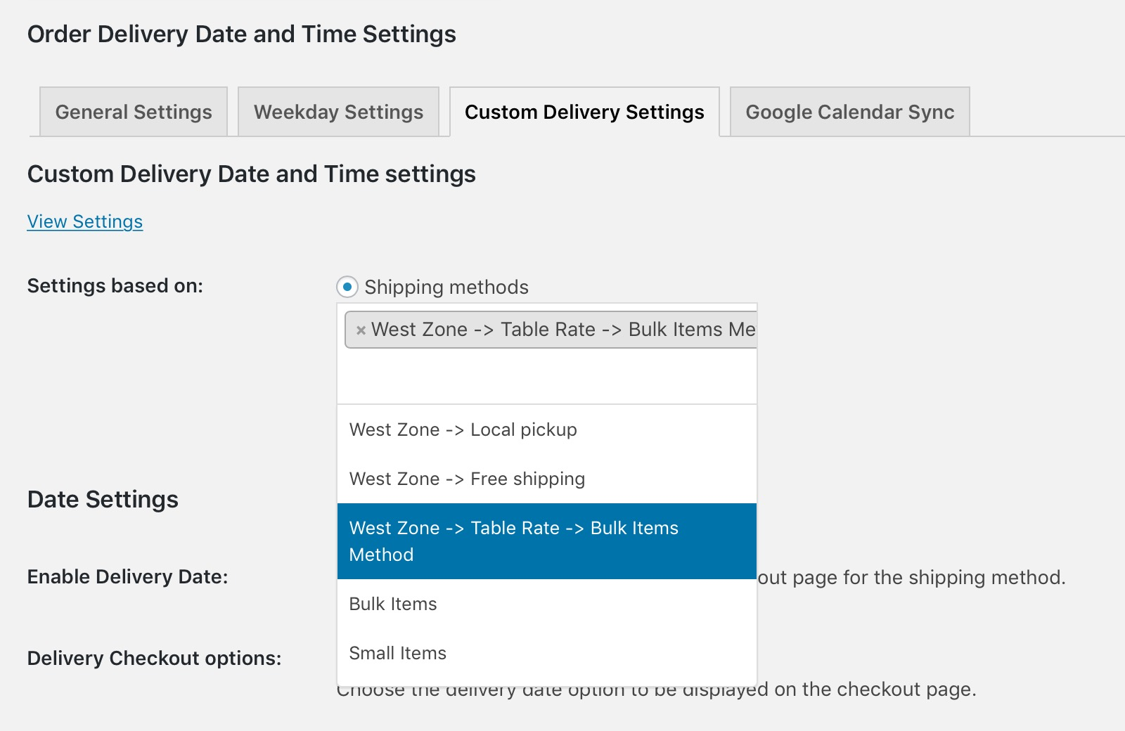woocommerce table rate shipping documentation