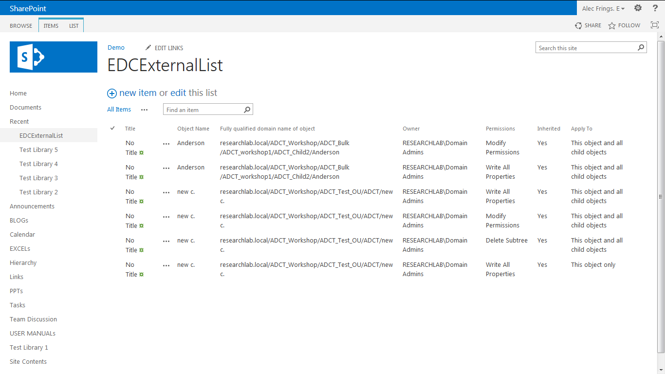 sharepoint list data to document