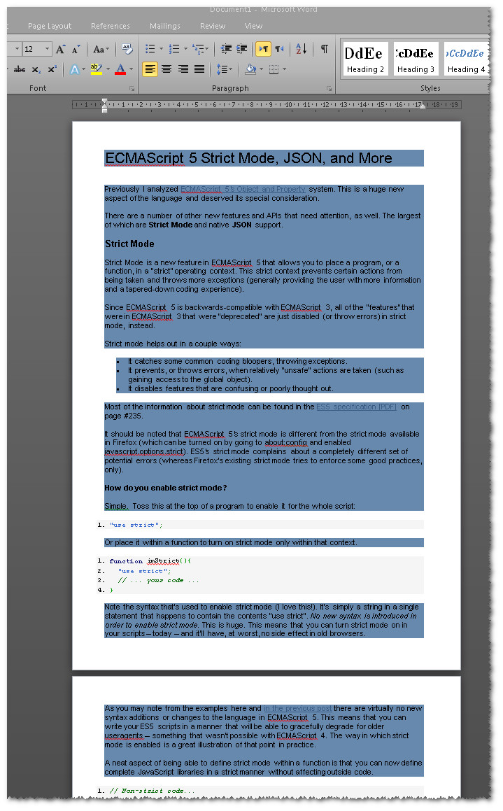 how to copy internet page to word document