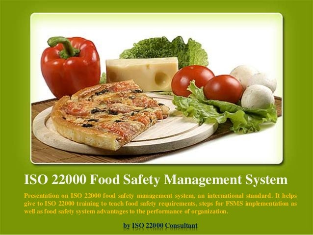 food safety standards documentation
