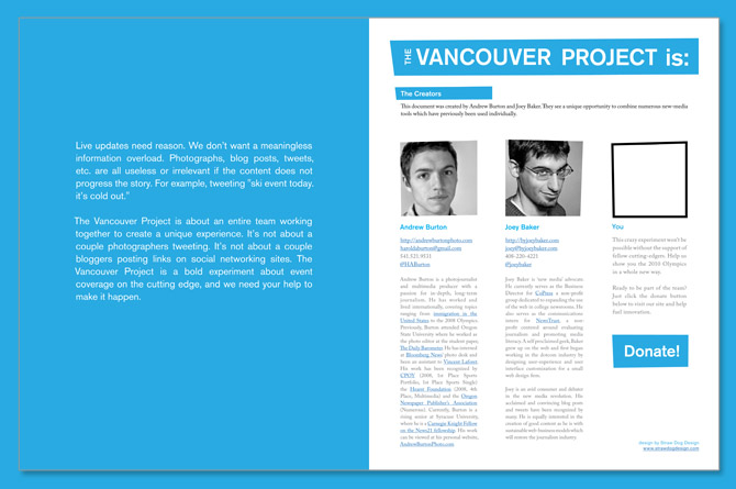client pitch document web developer