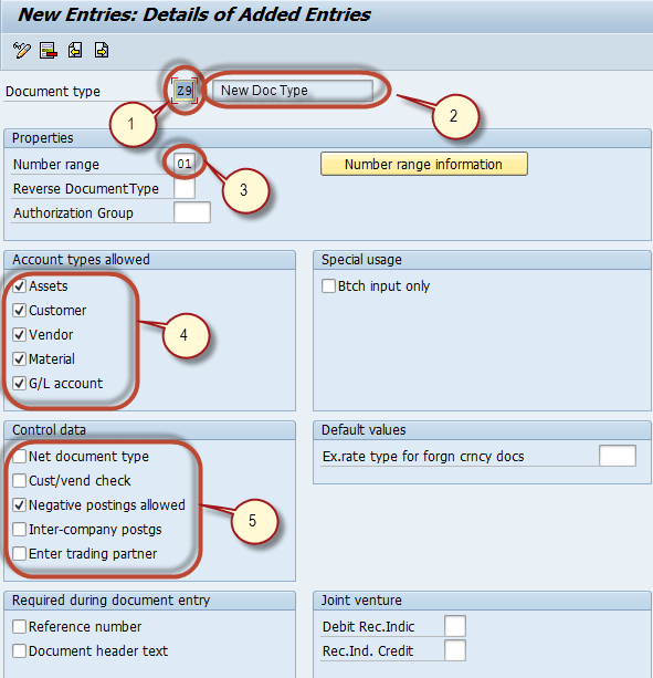 sap document types transaction code
