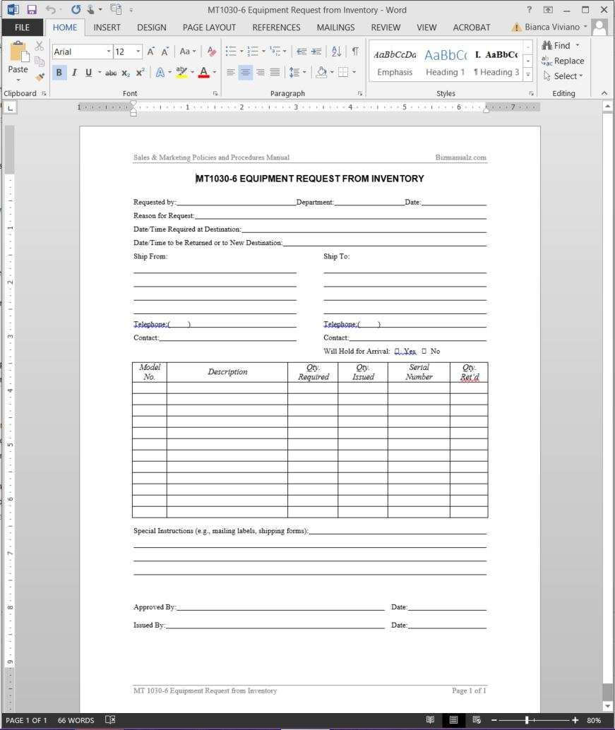 document change request form iso 9001