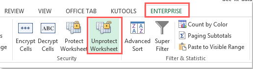 how to unprotect excel document 2013
