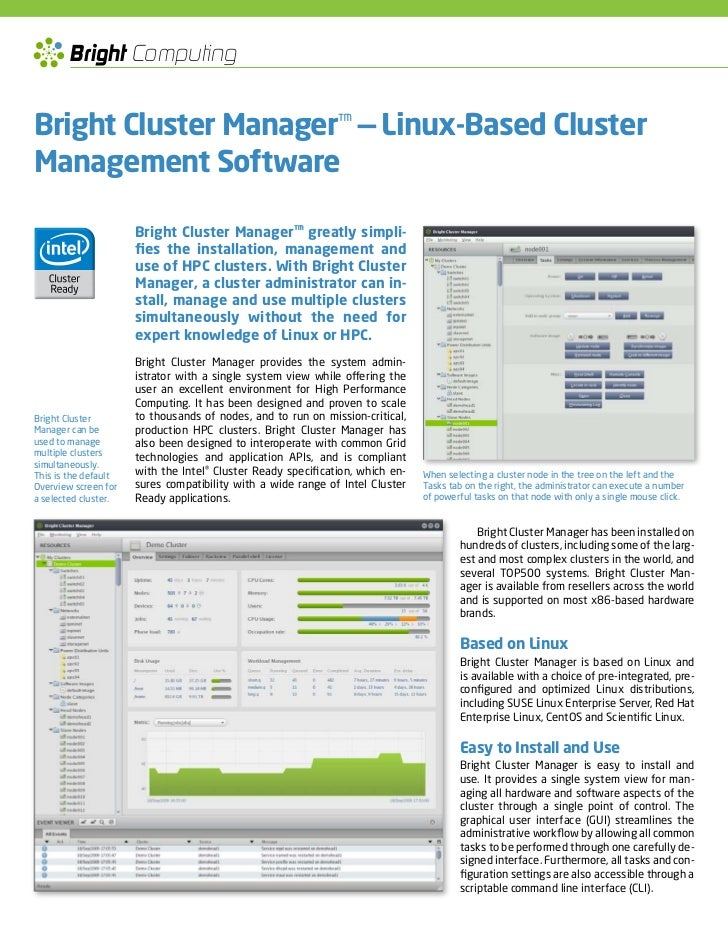 bright cluster manager documentation