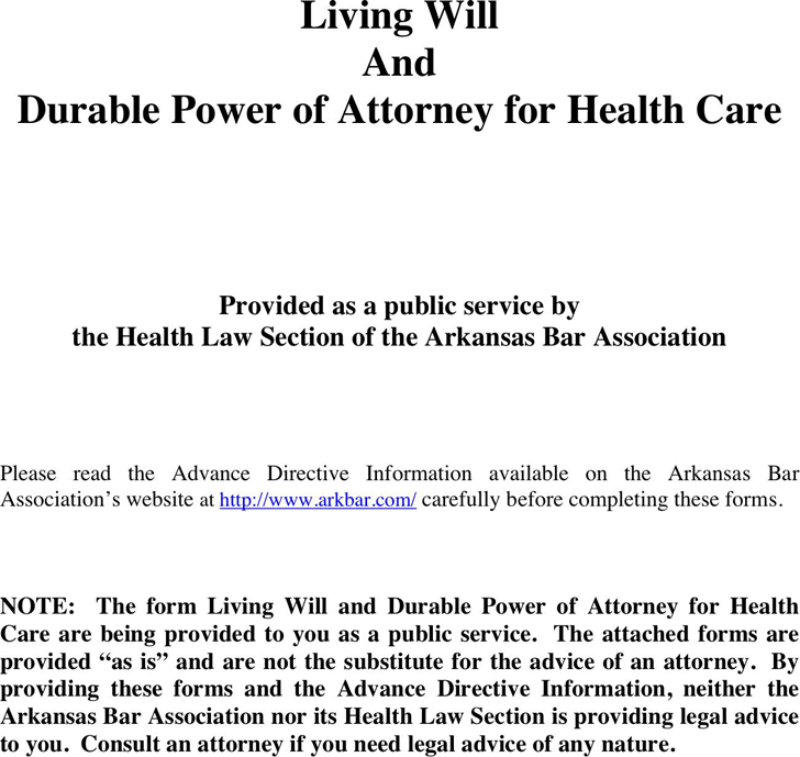 is advance care directive a legal document