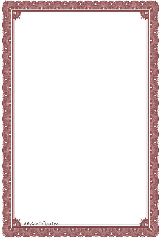 word document borders template free