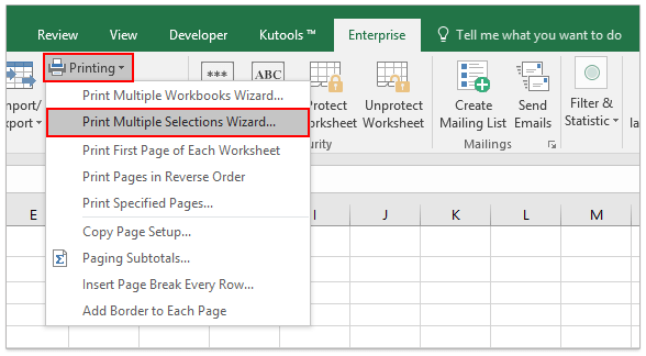 excel document printing on multiple pages