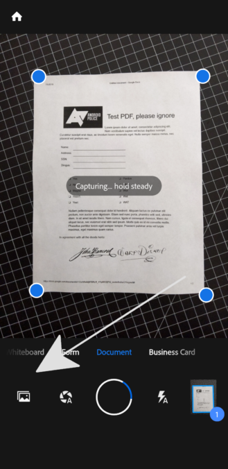 how to create a pdf document from scanned pages