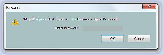 how to remove document password pdf