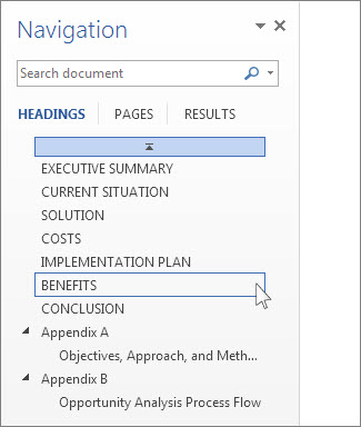 excel headings move with document