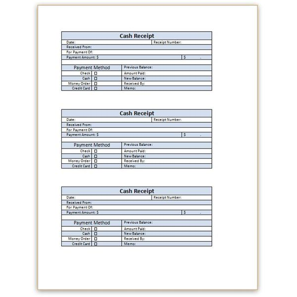 official receipt template word document