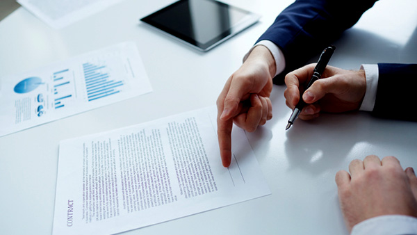 how to review a contract document