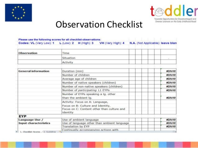 early years documentation observation forms