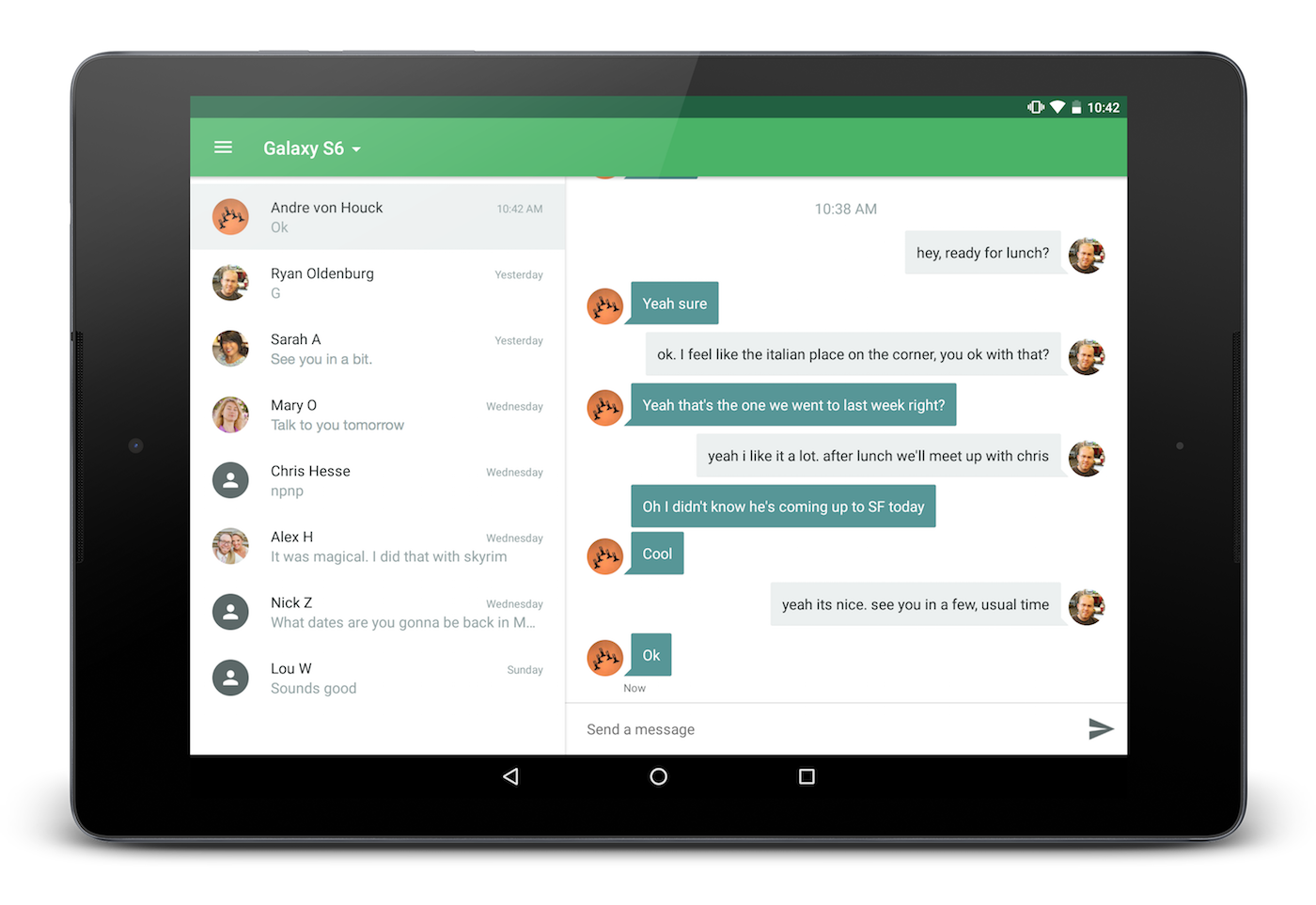 send scanned document to android tablet