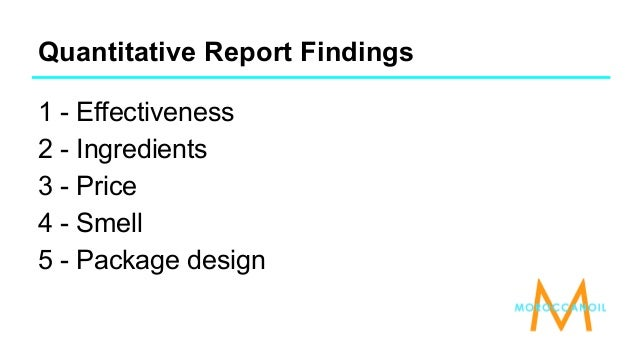 how marketing company present and document research finding