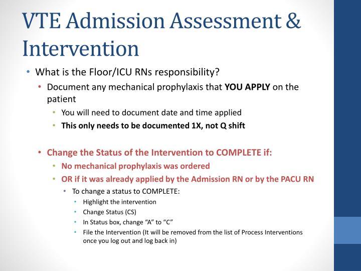 nursing admission assessment documentation