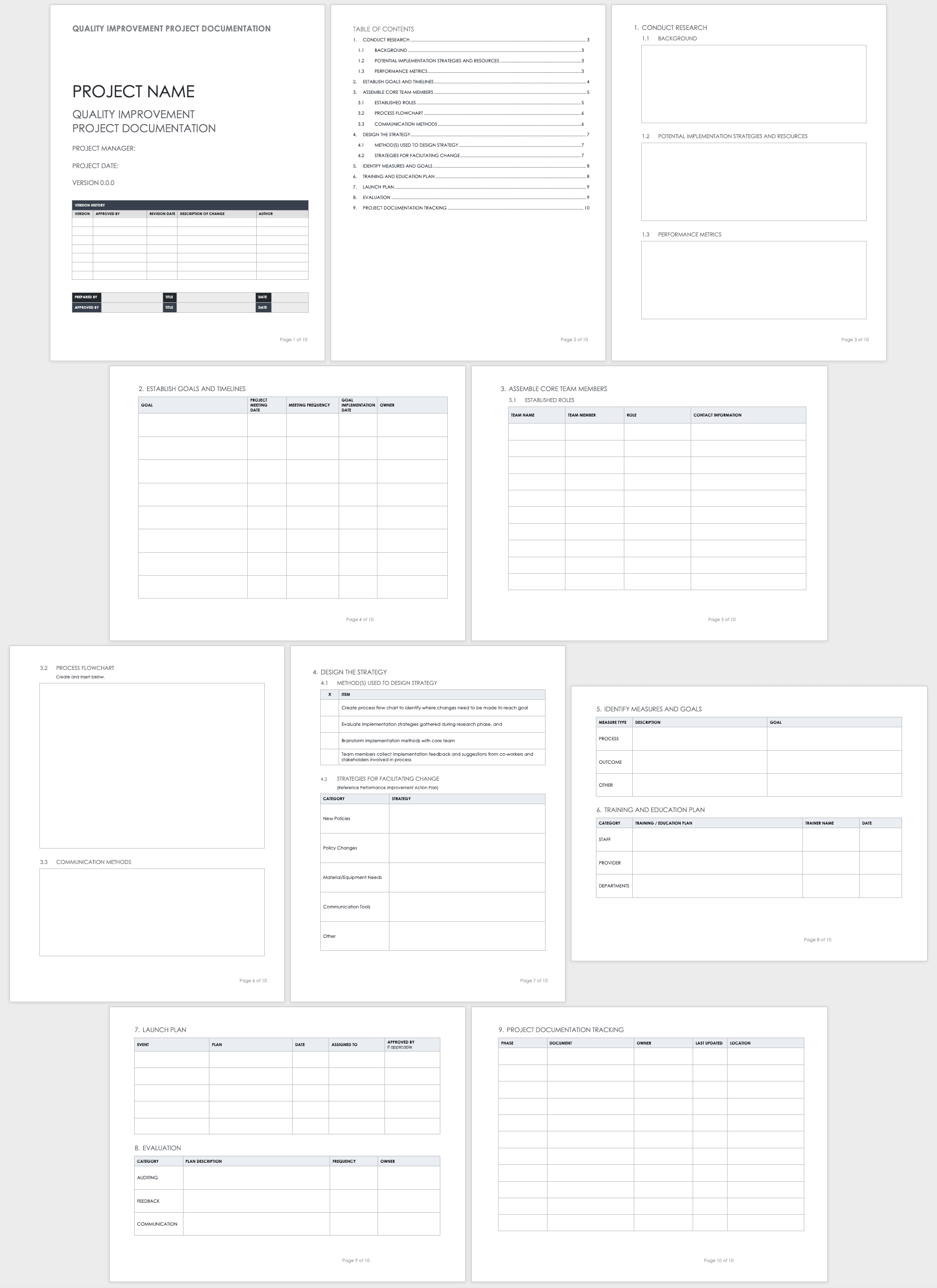 project documentation template word