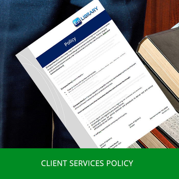 example of a policy for client file documentation