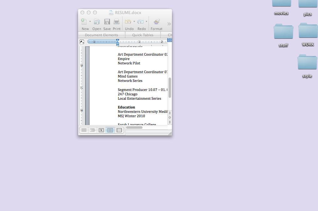 my microsoft word document is small
