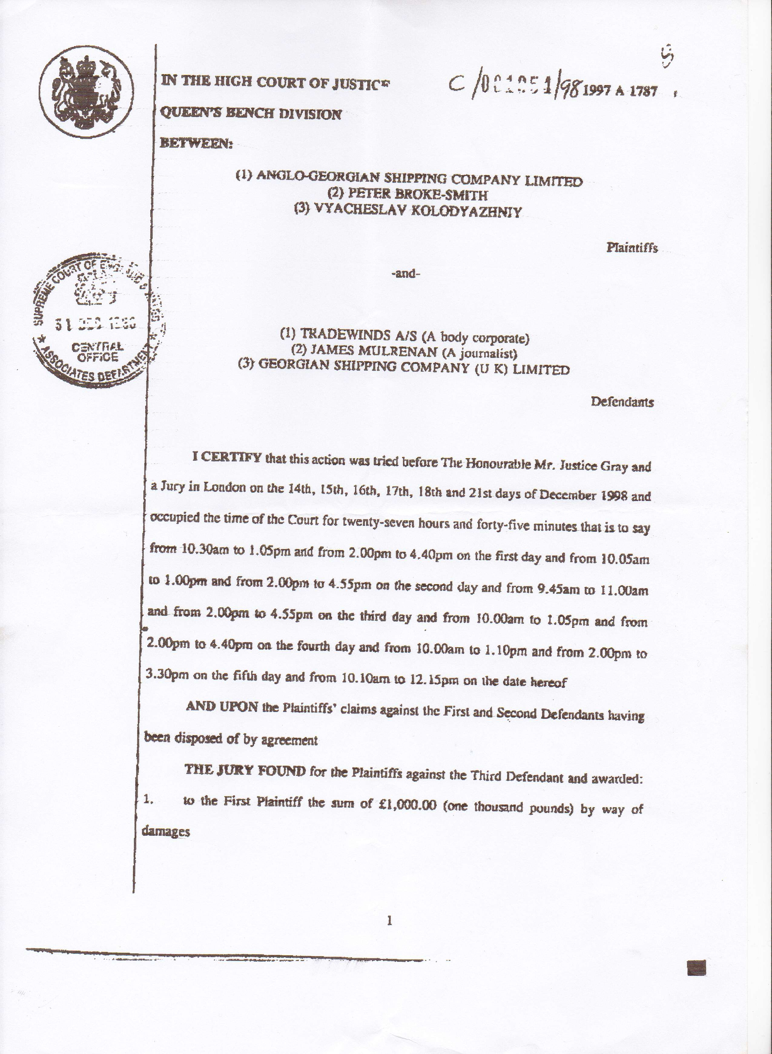 prepare legal document for the court