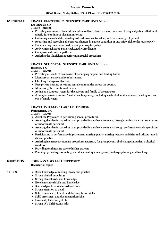 critical care documentation examples