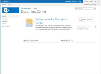sharepoint 2013 document center template
