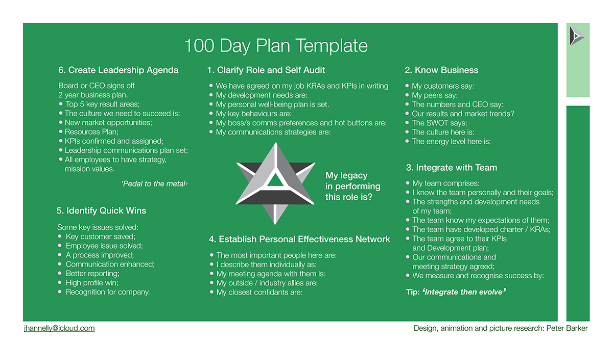 100 day action plan template document sample