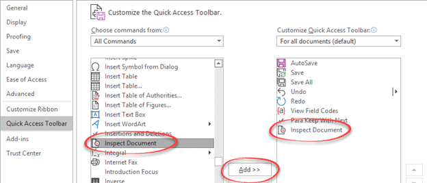 automatically name and save word document on exit