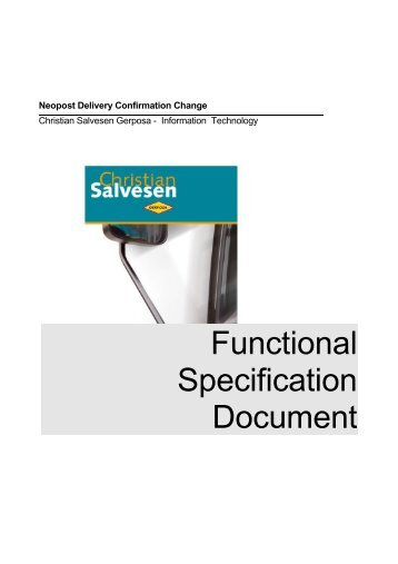 how to create a functional specification document
