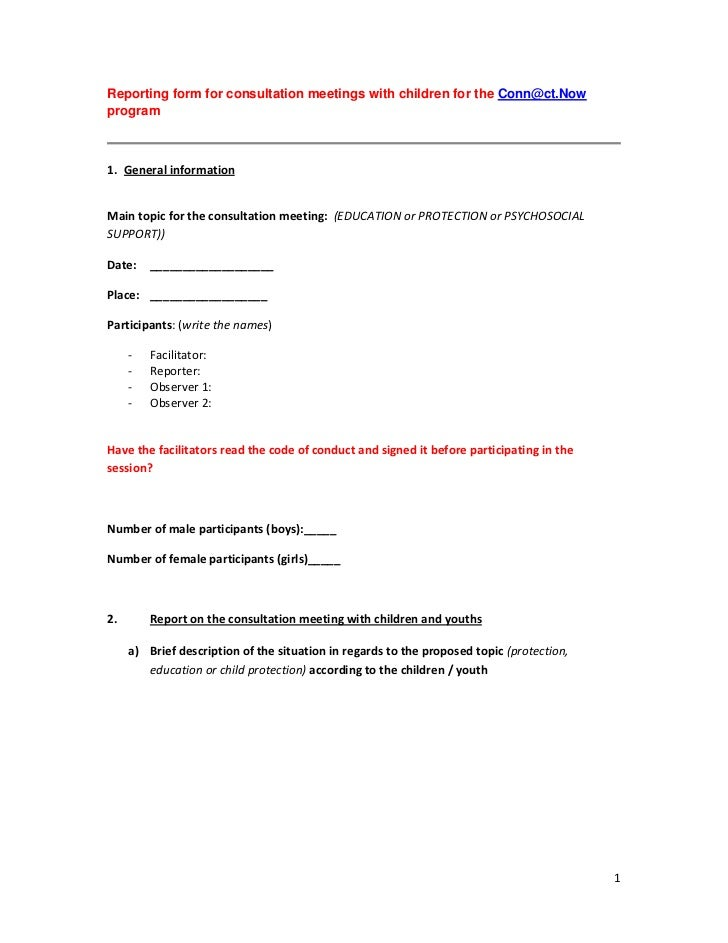 what is a consultation document