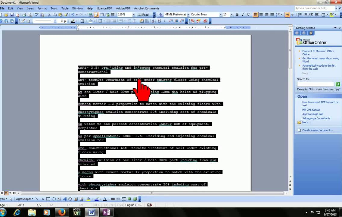 convert scanned document to text