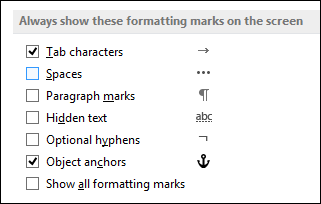 how to markup a word document 2016