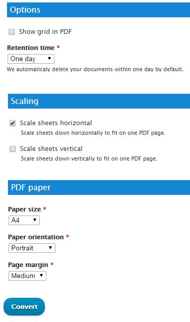 convert excel document to pdf online