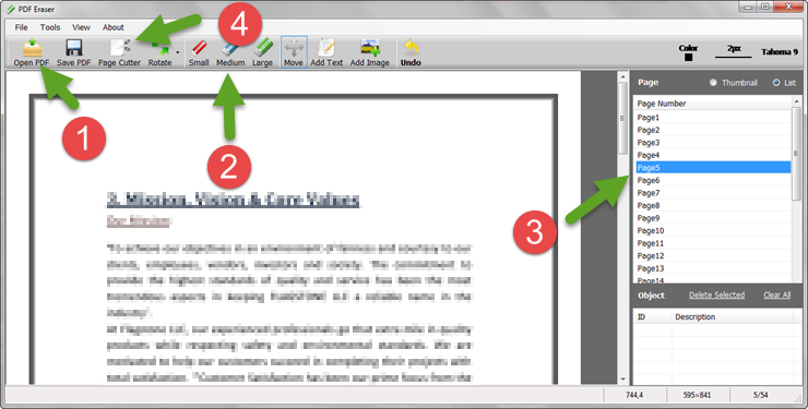 how to delete a page from a scanned pdf document