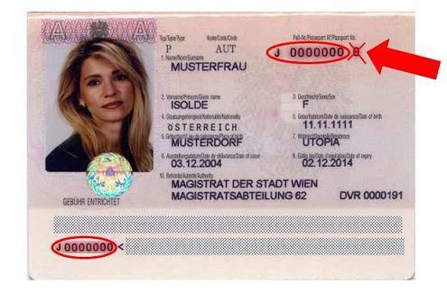 is my document no my passprt number