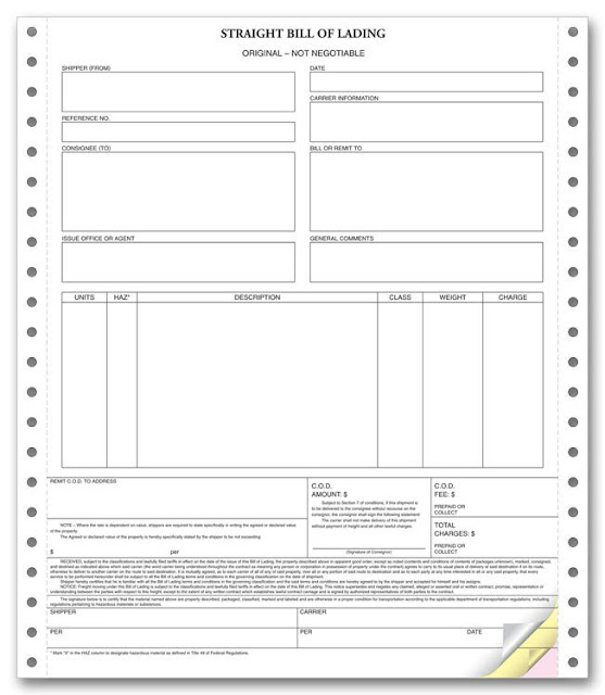 bill of lading word document